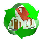 Recycle house Royalty Free Stock Photography