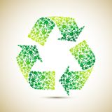 Recycle with Human Hand. Illustration of recycle symbol made of human hand Royalty Free Stock Photos