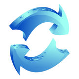 Recycle icon Royalty Free Stock Photos