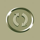 Recycle icon. 3d recycle icon - computer generated clipart Royalty Free Stock Image