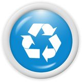 Recycle icon. 3d recycle icon - computer generated clipart Royalty Free Stock Photography