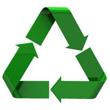 Recycle icon, 3d image Royalty Free Stock Photography