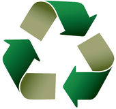 Recycle icon. Illustration on white background Royalty Free Stock Photography