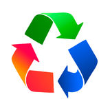 Recycle icon. Computer recycle vector icon illustration Stock Photos