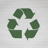 Recycle icon on book thick surface Royalty Free Stock Photography