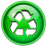 Recycle icon, button. Royalty Free Stock Image