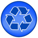 Recycle icon or button Stock Photography