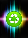 Recycle Icon Button on Abstract Spectrum Background Stock Photo