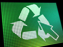 Recycle Icon Computer Screen Royalty Free Stock Photography