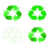 Recycle icon of conservation. Green icon.  Vector Royalty Free Stock Images