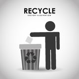 Recycle icon design. Illustration eps10 graphic Royalty Free Stock Photo