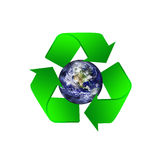 Recycle icon with earth Stock Photography