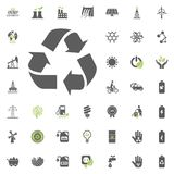 Recycle icon. Eco and Alternative Energy vector icon set. Energy source electricity power resource set vector. Recycle icon. Eco and Alternative Energy vector Royalty Free Stock Photo