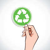 Recycle Icon in hand Royalty Free Stock Photo
