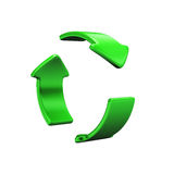 Recycle icon isolated. On white background Stock Photos