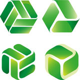 Recycle icon mix Stock Photos