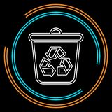 Recycle icon, recycling garbage can, ecology symbol royalty free illustration