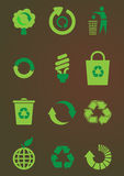 Recycle icon set Stock Photography