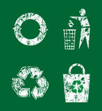Recycle icon set Royalty Free Stock Photo