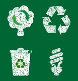 Recycle icon set Stock Photos