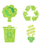 Recycle icon set Royalty Free Stock Image