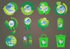 Recycle icon set Stock Photo