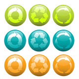 Recycle icon set Stock Photos