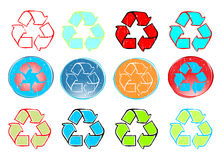 Recycle icon set vector Stock Photo