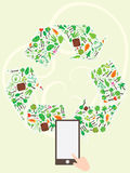 Recycle Icon Tree Page Stock Photos