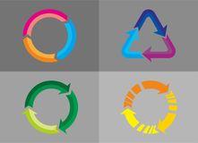 Recycle icon. Vector illustration for product packaging Royalty Free Stock Photo