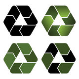 Recycle icons Royalty Free Stock Photography