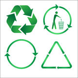 Recycle icons. Green and white. Other ecological vectors you can see in my portfolio Royalty Free Stock Photo