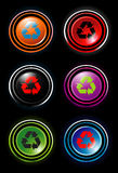 Recycle icons Royalty Free Stock Images