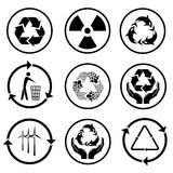 Recycle icons Stock Images