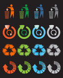 Recycle icons set Stock Photography