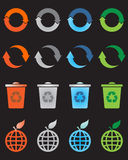 Recycle icons set Stock Image