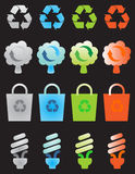 Recycle icons set Royalty Free Stock Images