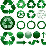 Recycle icons set Royalty Free Stock Image