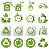 Recycle icons set Royalty Free Stock Photo