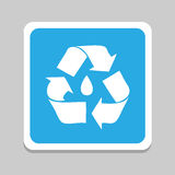 recycle icons set great for any use. Vector EPS10. Royalty Free Stock Photography