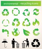 Recycle icons vector Stock Image