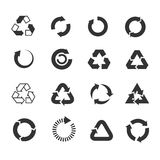 Recycle icons vector set Stock Photo