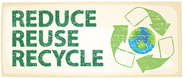 Recycle. Illustration of a recycle poster Stock Image