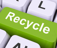 Recycle Key Means Reuse Or Salvage Stock Photography