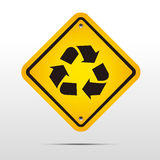 Recycle label Royalty Free Stock Photo