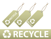 Recycle Labels Royalty Free Stock Photo