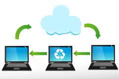 Recycle laptops Royalty Free Stock Images