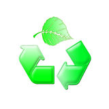 Recycle leaf Royalty Free Stock Photos