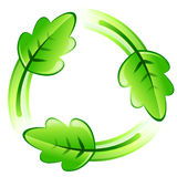 Recycle leaf Royalty Free Stock Photography