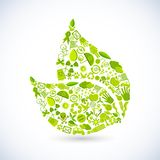 Recycle Leaf Royalty Free Stock Images